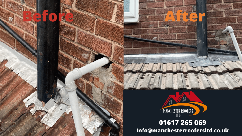 Before and after roofing repair manchester